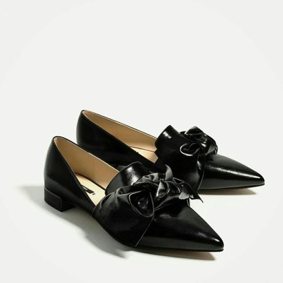 Zara Shoes   Zara Flat Shoes With Bow